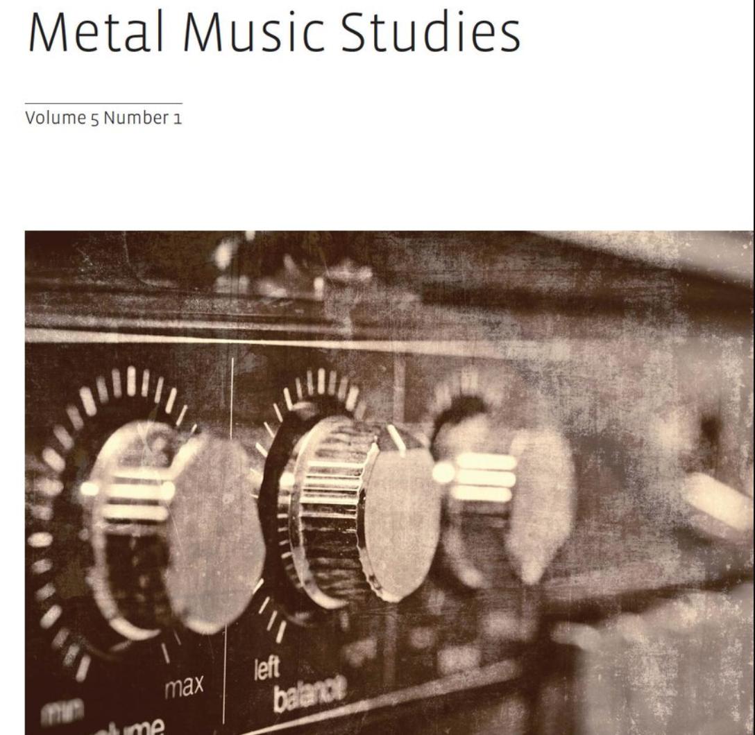 News: Metal Music Studies Editorial Advisory Board